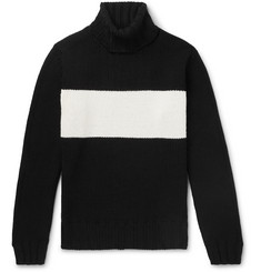 Lardini - Striped Wool Rollneck Sweater