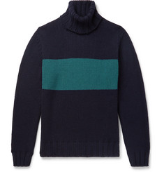 Lardini Slim-Fit Striped Wool Rollneck Sweater
