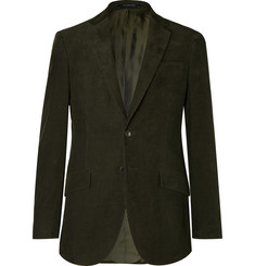 Richard James - Dark-Green Slim-Fit Cotton-Corduroy Suit Jacket