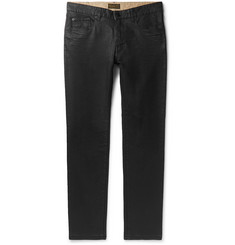Belstaff Fenton Slim-Fit Waxed Stretch-Denim Jeans