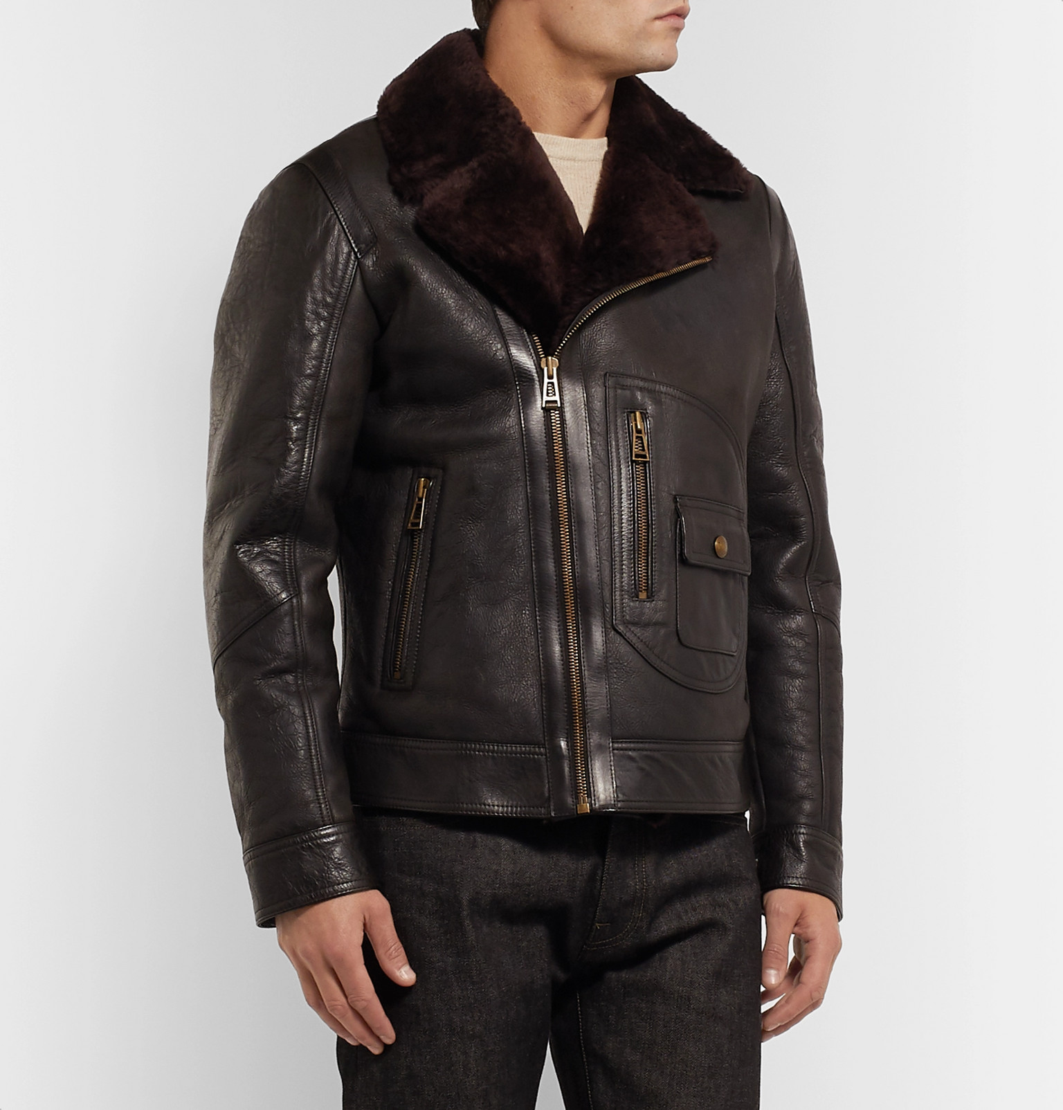 exquisite design best prices hot sales Belstaff - Danescroft Slim-Fit Shearling-Lined Leather Jacket