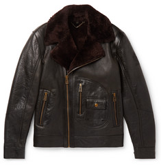 Belstaff - Danescroft Slim-Fit Shearling-Lined Leather Jacket