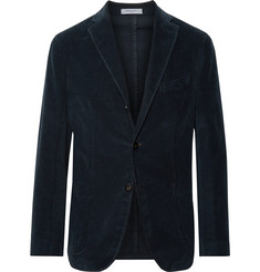 Boglioli - Navy K-Jacket Slim-Fit Unstructured Stretch-Cotton Corduroy Suit Jacket