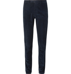 Boglioli - Midnight-Blue Slim-Fit Stretch-Cotton Corduroy Suit Trousers