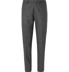 Boglioli Dark-Grey Mélange Virgin Wool Suit Trousers
