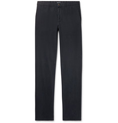 Boglioli Midnight-Blue Slim-Fit Stretch-Cotton Twill Trousers