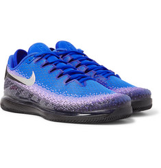 Nike Tennis NikeCourt Air Zoom Vapor X Rubber-Trimmed Stretch-Knit Tennis Sneakers