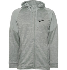 Nike Training Striped Dri-Fit and Loopback Jersey Zip-Up Hoodie