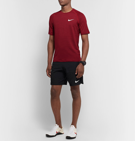 Nike Dri-fit Men's Training T-shirt (gym Red) In 687 Gymred/white