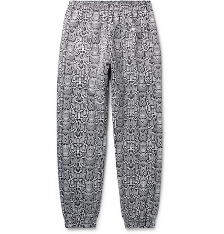 Logo Embroidered Snake Print Shell Track Pants by Noon Goons