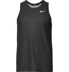Nike Running - Miler Checked Dri-FIT Mesh Tank Top