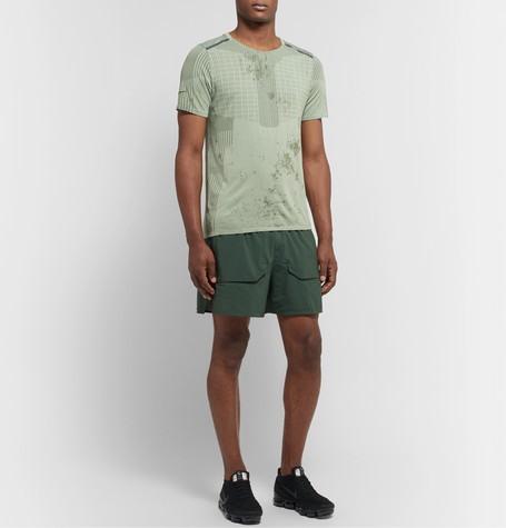 Nike Tech Pack Stretch-Mesh Drawstring Running Shorts In Green