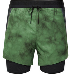 Nike Running Tech Pack Slim-Fit 2-in-1 Layered Tie-Dyed Dri-FIT Shorts