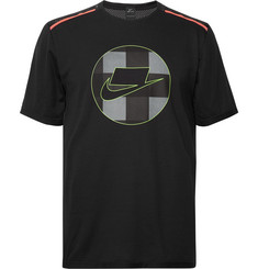 Nike Running Wild Run Logo-Print Dri-FIT and Mesh T-Shirt