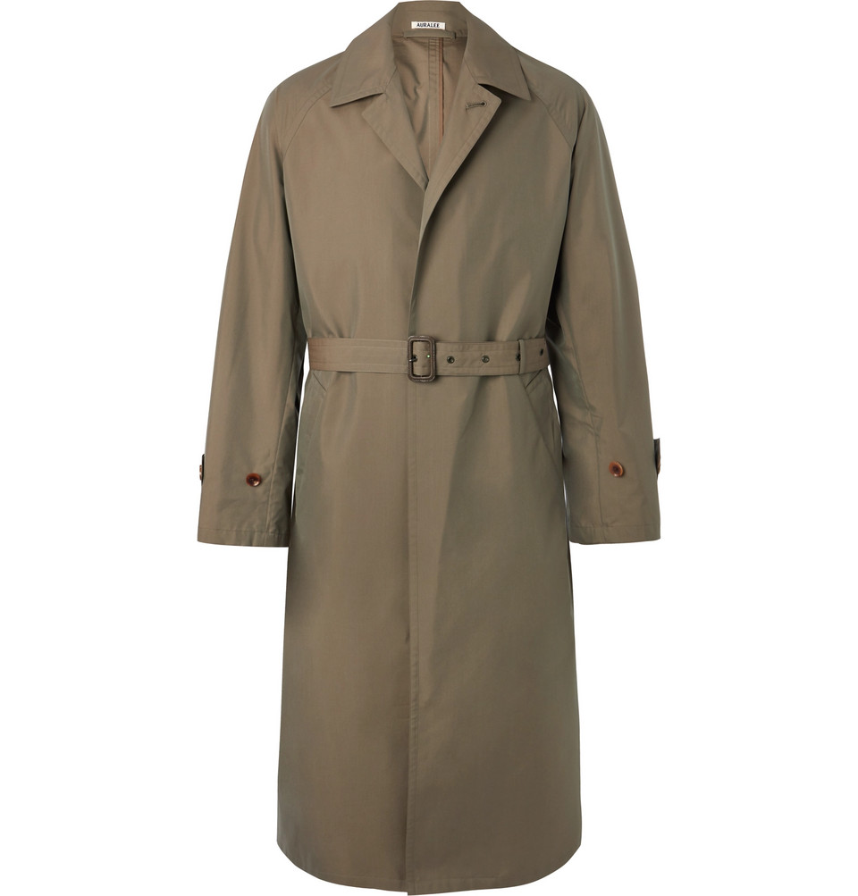 Cotton-gabardine Trench Coat - Army green