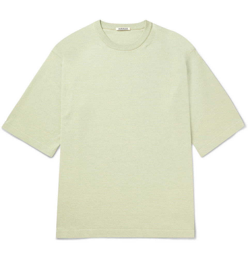 Oversized Cotton-jersey T-shirt - Green