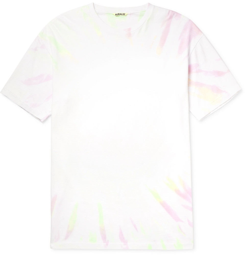 Tie-dyed Cotton-jersey T-shirt - White