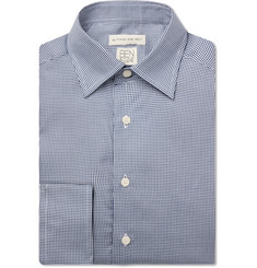 Etro Blue Slim-Fit Puppytooth Lyocell Shirt