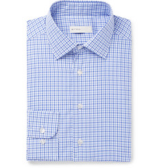 Etro - Blue Slim-Fit Micro-Checked Cotton-Poplin Shirt