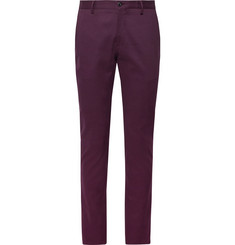 Etro Navy Slim-Fit Cotton-Blend Twill Chinos