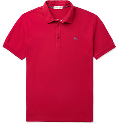 Etro Logo-Embroidered Cotton-Piqué Polo Shirt