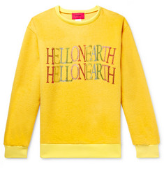 EV BRAVADO Embellished Cashmere and Mohair-Blend Sweatshirt