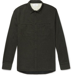 Mr P. Mélange Brushed Cotton-Flannel Shirt