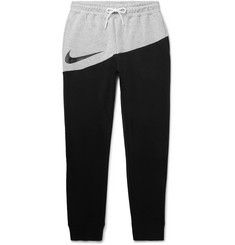 Nike Logo-Print Fleece-Back Cotton-Blend Jersey Sweatpants