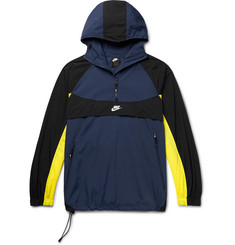 Nike Sportswear Re-Issue Colour-Block Nylon Hooded Half-Zip Anorak