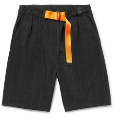 Nike Sportswear Tech Pack Checked Stretch-Nylon Shorts