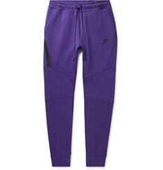 Nike Sportswear Slim-Fit Tapered Cotton-Blend Tech Fleece Sweatpants