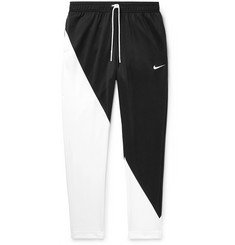 Nike Slim-Fit Tapered Colour-Block Tech-Jersey Track Pants