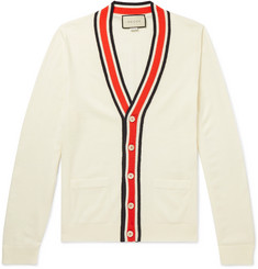 Gucci Slim-Fit Striped Wool Cardigan