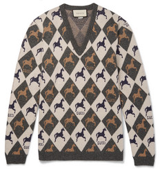 Gucci - Wool-Jacquard Sweater