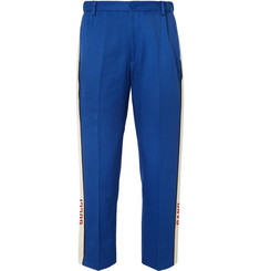 Gucci Poplin-Trimmed Cotton-Twill Suit Trousers