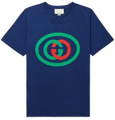 423fce7ef138 Gucci Oversized Logo-Print Cotton-Jersey T-Shirt