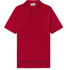 John Smedley Beecroft Slim-Fit Contrast-Tipped Merino Wool Polo Shirt