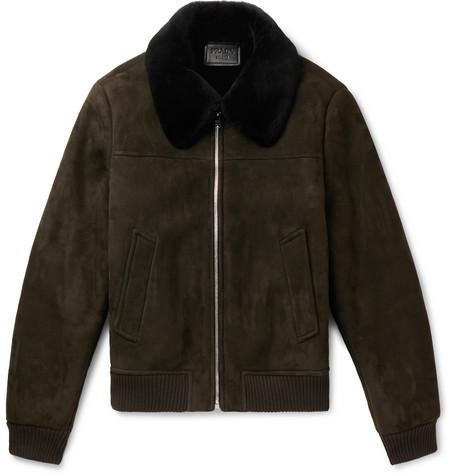 Shearling Bomber Jacket by Prada