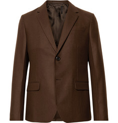 Prada Brown Slim-Fit Unstructured Virgin Wool Suit Jacket