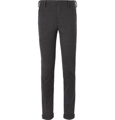 Prada - Charcoal Slim-Fit Virgin Wool-Jersey Suit Trousers