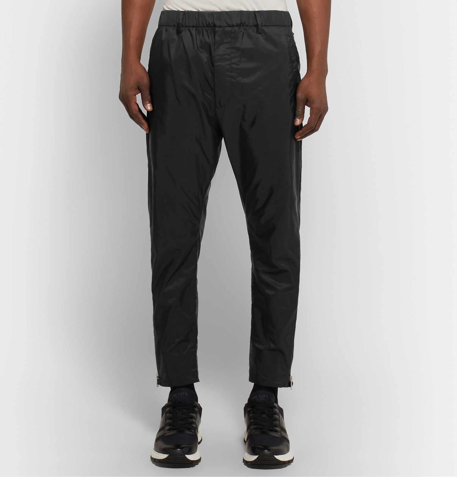 Prada Slim Fit Tapered Nylon Track Pants