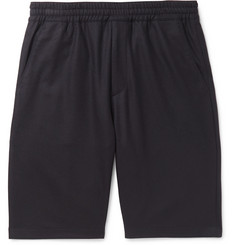 Prada Stretch Virgin Wool-Blend Flannel Shorts