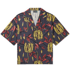 c45d37a343e9 Prada Oversized Camp-Collar Printed Voile Shirt