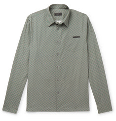 Prada Printed Cotton-Blend Poplin Shirt