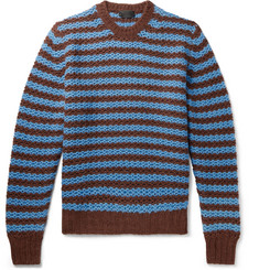 Prada Striped Alpaca Sweater