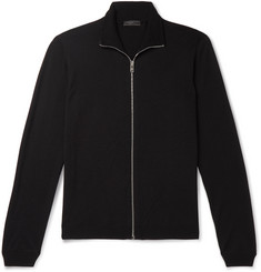 f5b24e4f06a00 Prada Slim-Fit Virgin Wool Zip-Up Cardigan