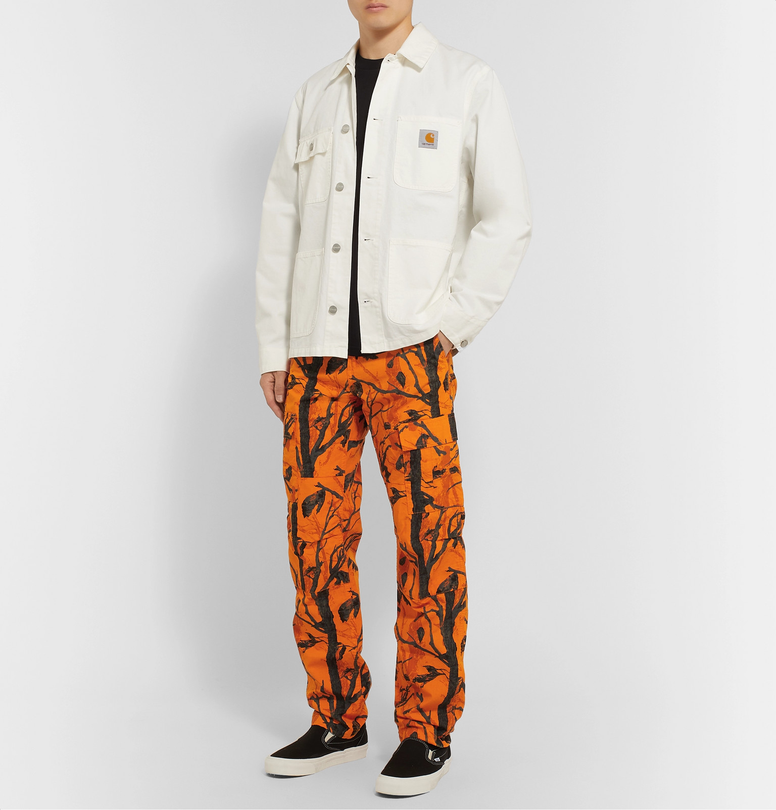 sells classic shoes utterly stylish Carhartt WIP - Aviation Slim-Fit Printed Cotton-Ripstop ...