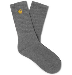Carhartt WIP Chase Logo-Embroidered Stretch Cotton-Blend Socks
