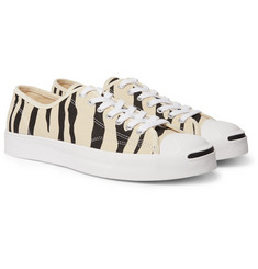 Converse - Jack Purcell OX Animal-Print Canvas Sneakers