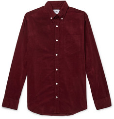 NN07 - Levon Button-Down Collar Cotton-Corduroy Shirt